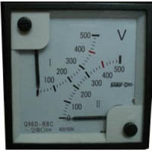 Dual dual-indicating AC / DC current voltmeter Q96D-RBC